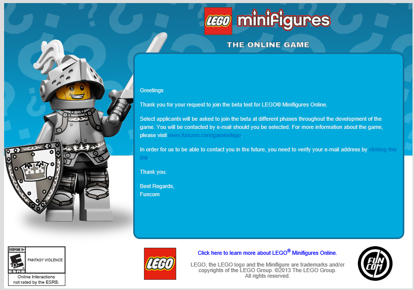 Register for LEGO Minifigures Online Beta! | LEGO Universe News!
