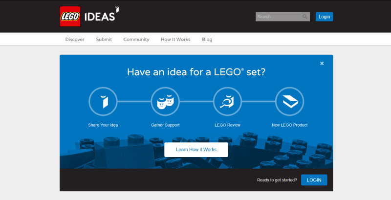 LEGO Ideas Site